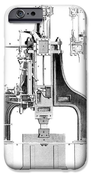 Technological iPhone Cases - Nasmyths Steam Hammer, Artwork iPhone Case by Library Of Congress