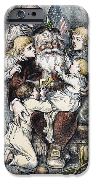 Nast iPhone Cases - Nast: Christmas, 1879 iPhone Case by Granger