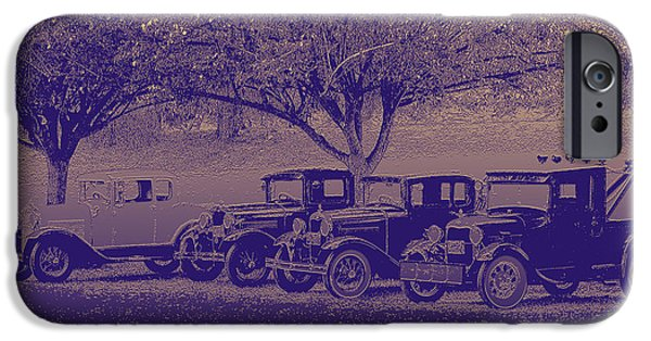 Antiques Reliefs iPhone Cases - Nates Old Cars 2 embossed iPhone Case by Tim Tompkins