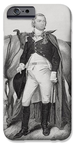 American Revolution iPhone Cases - Nathanael Greene 1742-1786. American iPhone Case by Vintage Design Pics