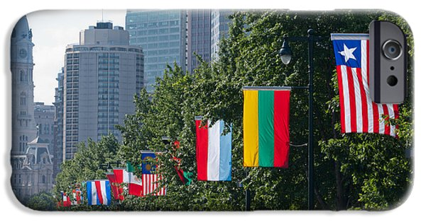 Franklin iPhone Cases - National Flags Of Various Countries iPhone Case by Panoramic Images