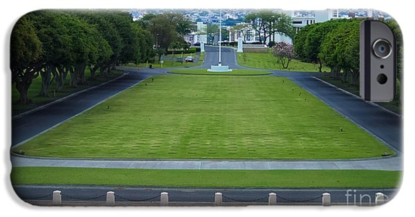 Stripes iPhone Cases - National Memorial Cemetery of the Pacific Hawaii iPhone Case by Andrea Anderegg