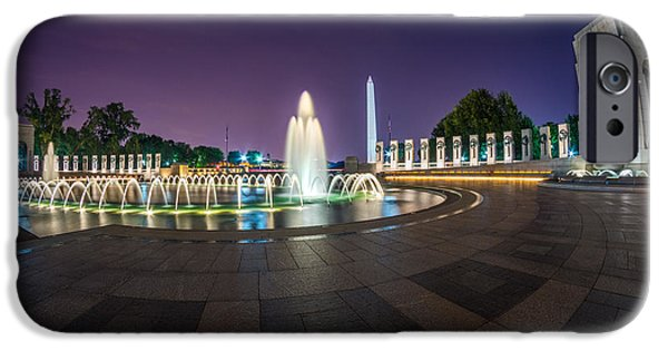 D.c. iPhone Cases - National WWII Memorial iPhone Case by Chris Bordeleau
