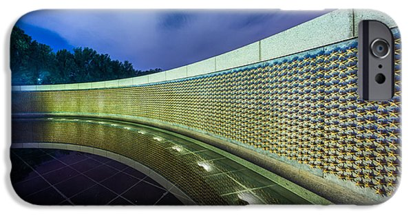 D.c. iPhone Cases - National WWII Memorial Reflections iPhone Case by Chris Bordeleau