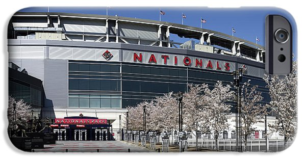 All Star Game iPhone Cases - Nationals Park in Washington D.C. iPhone Case by Brendan Reals
