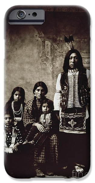 Breastplate iPhone Cases - Native American Family iPhone Case by Granger