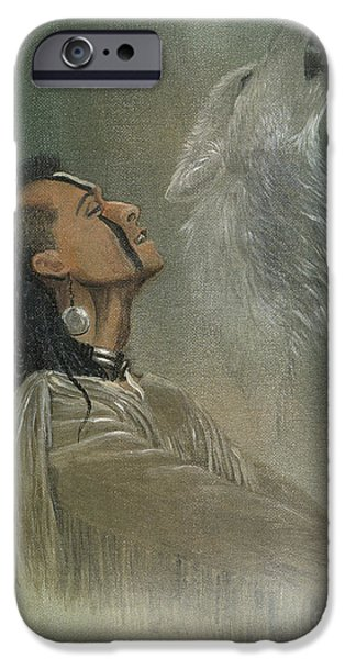 American Mixed Media iPhone Cases - Native American Indian iPhone Case by Morgan Fitzsimons