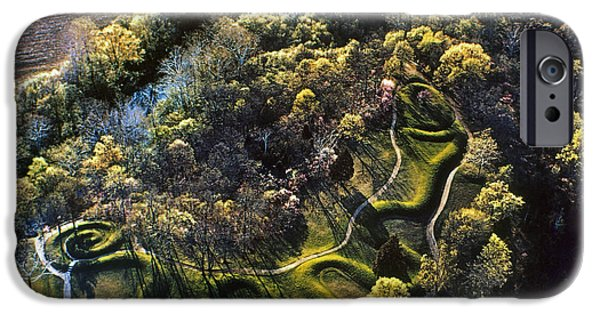 Serpent iPhone Cases - Native American Serpent Mound, Ohio iPhone Case by Granger