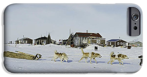 Husky iPhone Cases - Native Canadian Indian on Hunt iPhone Case by Bert Hoferichter