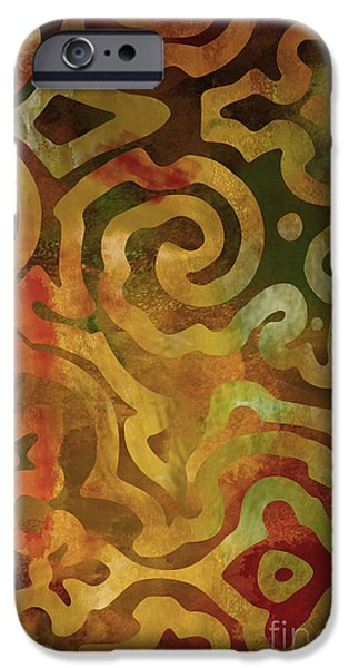 Ethnic iPhone Cases - Native Elements Earth Tones iPhone Case by Mindy Sommers