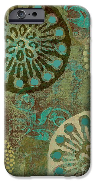 Patterned Paintings iPhone Cases - Native Elements iPhone Case by Mindy Sommers