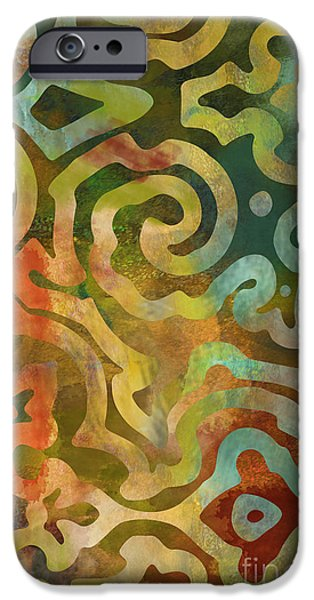 Ethnic iPhone Cases - Native Elements Multicolor iPhone Case by Mindy Sommers