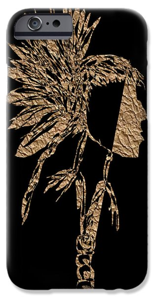 Angel Blues iPhone Cases - Native Mindset PB iPhone Case by Valerie Christopher
