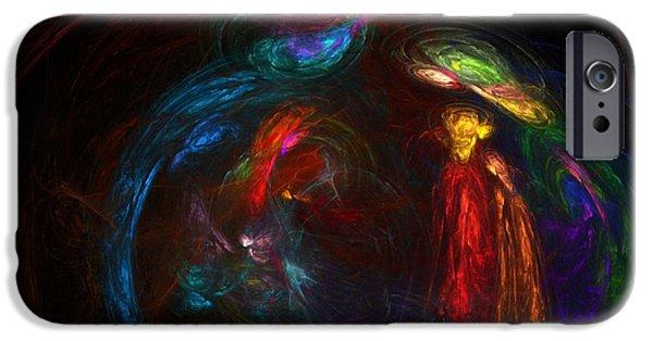 Fine Art Fractal iPhone Cases - Nativity  iPhone Case by David Lane
