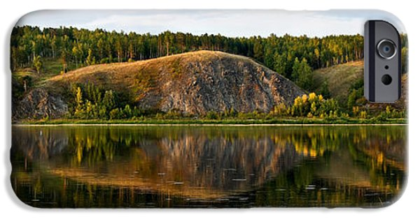 Interior Scene iPhone Cases - Natural Harmony. River Tom iPhone Case by Victor Kovchin