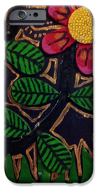 Petals Reliefs iPhone Cases - Nature eleven back iPhone Case by William Douglas