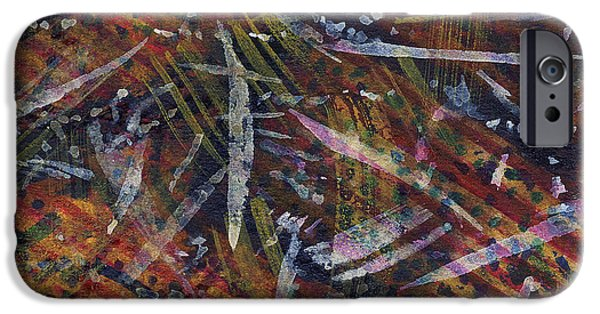 Nature Abstract Tapestries - Textiles iPhone Cases - Nature Memoir iPhone Case by TB Schenck