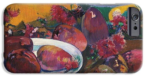 Mango Paintings iPhone Cases - Nature Morte Aux Mangos iPhone Case by Paul Gauguin
