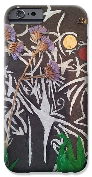 Plant Reliefs iPhone Cases - Nature twelve iPhone Case by William Douglas