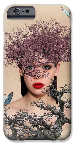 Surrealism Digital Art iPhone Cases - Natures Beauty iPhone Case by Sharon Lisa Clarke