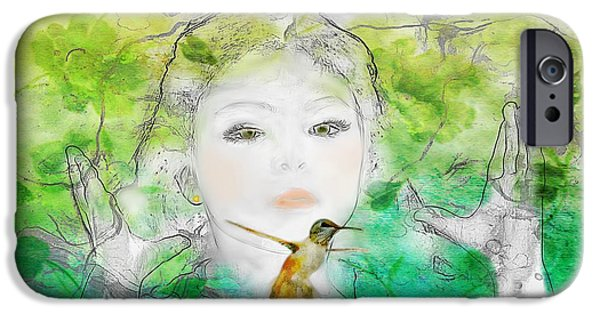 Little Girl iPhone Cases - Natures Child iPhone Case by Barbara Chichester