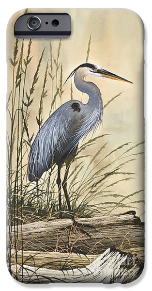 Heron Paintings iPhone Cases - Natures Harmony iPhone Case by James Williamson