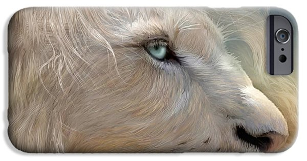 Lion Art iPhone Cases - Natures King Portrait iPhone Case by Carol Cavalaris