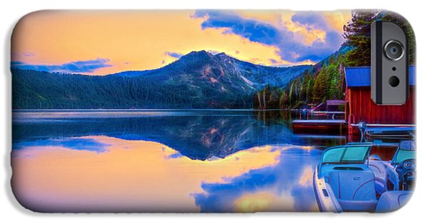 Pines iPhone Cases - Natures Mirror iPhone Case by Maria Coulson