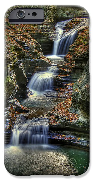 Watkins Glen iPhone Cases - Natures Tears iPhone Case by Evelina Kremsdorf