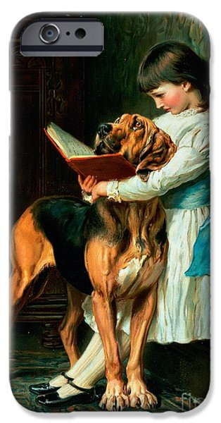 1920 iPhone Cases - Naughty Boy or Compulsory Education iPhone Case by Briton Riviere