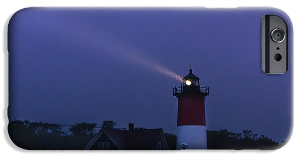 Mist iPhone Cases - Nauset Light 3 iPhone Case by Terry Hankins