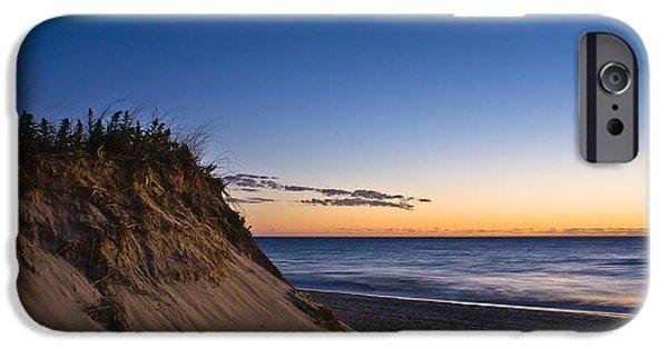 Escape iPhone Cases - Nauset Beach Sunrise iPhone Case by John Greim