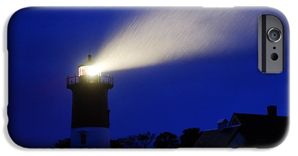 Cape Cod Lighthouse iPhone Cases - Nauset Light Storm iPhone Case by John Greim