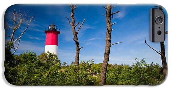 Chatham iPhone Cases - Nauset Lighthouse 2 iPhone Case by Emmanuel Panagiotakis