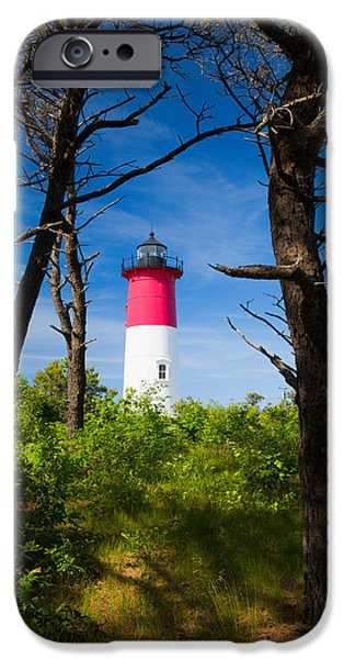 Nubble Lighthouse iPhone Cases - Nauset Lighthouse iPhone Case by Emmanuel Panagiotakis