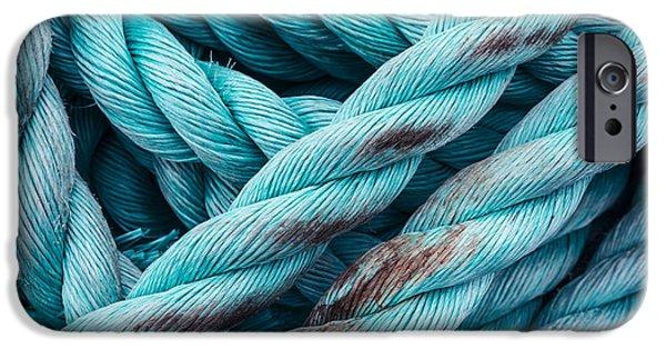 Crops Pyrography iPhone Cases - Nautical background iPhone Case by Pavlo Kolotenko