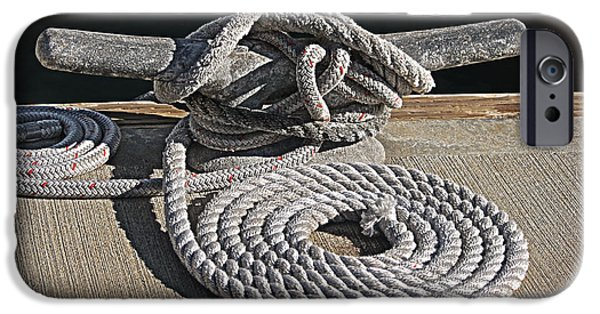 Board iPhone Cases - Nautical rope iPhone Case by Danuta Bennett