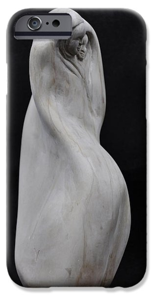 Meditation Sculptures iPhone Cases - Navajo Woman iPhone Case by Vincent von Frese