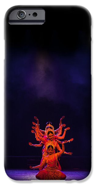 Hindu Goddess iPhone Cases - Navratri Durga iPhone Case by Marji  Lang