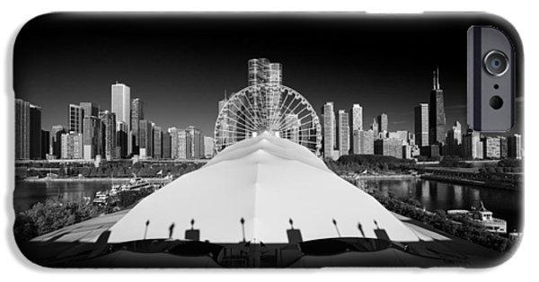 July iPhone Cases - Navy Pier Wheel iPhone Case by Steve Gadomski