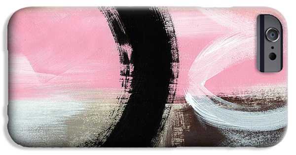 Pink Mixed Media iPhone Cases - Neapolitan 3 - Abstract Painting iPhone Case by Linda Woods