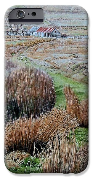 Tracks Pastels iPhone Cases - Near Trawsfynydd iPhone Case by Alwyn Dempster Jones