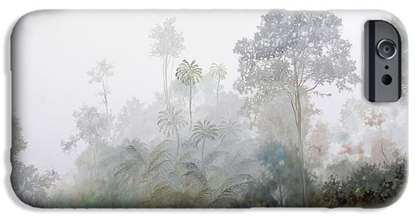 Fog iPhone Cases - Nebbia Nella Foresta iPhone Case by Guido Borelli