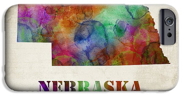 Nebraska iPhone Cases - Nebraska iPhone Case by Mihaela Pater