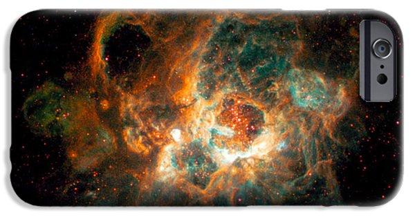 Stellar iPhone Cases - Nebula In Galaxy M33 iPhone Case by Space Telescope Science Institute  NASA