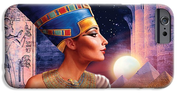 Adult iPhone Cases - Nefertiti Variant 5 iPhone Case by Andrew Farley