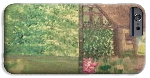 Quaker Paintings iPhone Cases - Neighbors iPhone Case by Cindy  Riley