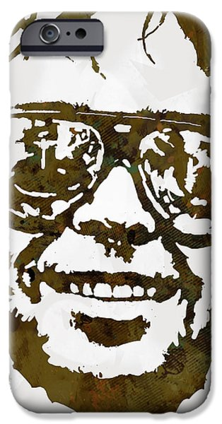 Young Mixed Media iPhone Cases - Neil Young pop  stylised art sketch poster iPhone Case by Kim Wang