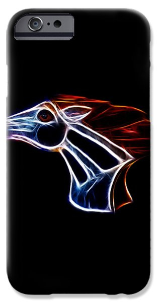 Neon Bronco II iPhone Case by Shane Bechler