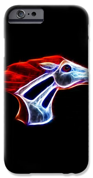 Neon Bronco iPhone Case by Shane Bechler